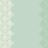 Seamless turquoise frame/border in damask style Stock Images