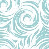 Seamless Turquoise Pastel Color Swirl Or Tornado Vector Texture Isolated On White Background.Pattern For Fabrics Or Royalty Free Stock Photography