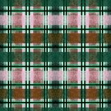Seamless turquoise, pink, mustard, checkered tartan plaid background . Colorful pattern Royalty Free Stock Photos