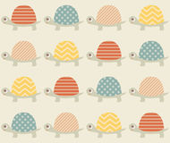 Seamless turtle fabric pattern Stock Photo