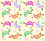 Seamless turtle pattern Stock Photography