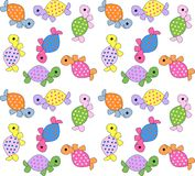 Seamless turtle pattern Royalty Free Stock Image