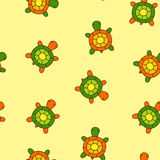 Seamless/ Turtles Royalty Free Stock Photo