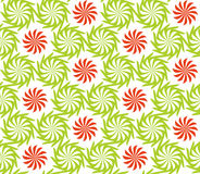 Seamless twisted flowers pattern Royalty Free Stock Images