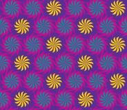 Seamless twisted flowers pattern Stock Photo