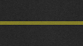 Seamless two lane road texture image Royalty Free Stock Photography