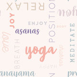 Seamless Type Pattern Yoga Rose Stock Image