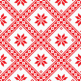 Seamless Ukrainian Slavic folk emboidery pattern Royalty Free Stock Photos