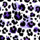 Seamless ultraviolet violet leopard pattern. Vector. Seamless ultraviolet violet purple leopard pattern. Vector Stock Photo