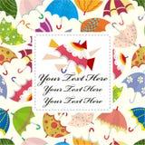Seamless umbrella card Royalty Free Stock Photos