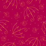 Seamless umbrella pattern Royalty Free Stock Photo