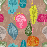 Seamless umbrella pattern Stock Photo