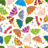 Seamless umbrella pattern. Vector drawing Royalty Free Stock Image