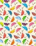 Seamless Umbrella Pattern Stock Image