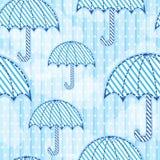 Seamless umbrella pattern. An umbrella seamless pattern wallpaper Stock Image