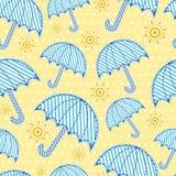 Seamless umbrella pattern. Blue umbrella seamless pattern wallpaper Royalty Free Stock Photography