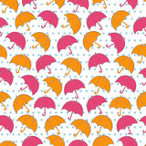 Seamless umbrella pattern Stock Image