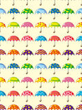 Seamless umbrella pattern Royalty Free Stock Photography