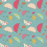Seamless Umbrella pattern. Seamless Umbrella multi color pattern Royalty Free Stock Photo