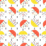 Seamless umbrella pattern Stock Images