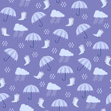 Seamless with umbrella. Stock Images