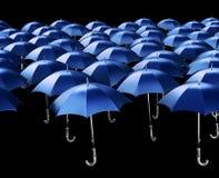 Seamless Umbrellas. Isolated on black Stock Image