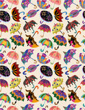 Seamless umbrellas pattern Stock Images