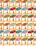 Seamless Umbrellas pattern Stock Photos