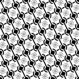 Seamless uncolored pattern Royalty Free Stock Photo