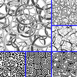 Seamless uncolored patterns Stock Photos