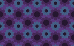 Seamless under construction abstract gears background pattern Stock Image