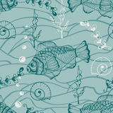 Seamless Underwater Pattern Royalty Free Stock Photos