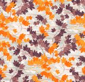 Seamless unique leaves pattern background. Seamless unique leaves pattern color background stock illustration