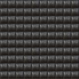 seamless upholstery för svart lädermodell Arkivfoto