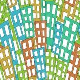 Seamless urban background Royalty Free Stock Photo