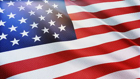 Seamless USA Flag waving in wind detailed fabric texture. American Flag Waving. Seamless USA Flag waving in the wind with highly detailed fabric texture stock footage