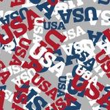 Seamless USA mönstrar Nationell bakgrund Amerikansk textur passande stock illustrationer