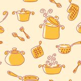 Seamless utensil pattern. Stock Images
