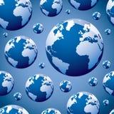 seamless värld för jordklot vektor illustrationer