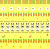 seamless v wallpaper för kaninmorotbarn s vektor illustrationer