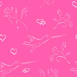 Seamless valentine background Stock Photos