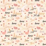 Seamless valentine background Royalty Free Stock Photography