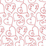 Seamless valentine background Royalty Free Stock Images