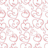 Seamless valentine background. Seamless background with elegant hearts Royalty Free Stock Image