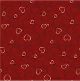Seamless valentine background. Seamless background with elegant hearts Royalty Free Stock Photo
