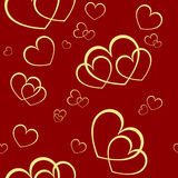 Seamless valentine background Stock Photo