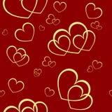 Seamless valentine background. Seamless background with elegant hearts Stock Photo