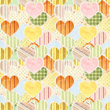 Seamless Valentine background Royalty Free Stock Image
