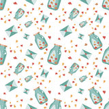 Seamless Valentine background. Tile love pattern. Vector illustrated endless sweet wrapping paper texture Royalty Free Stock Photography