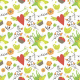 Seamless Valentine background. Tile love pattern. Vector illustrated sweet wrapping paper texture  Royalty Free Stock Photo